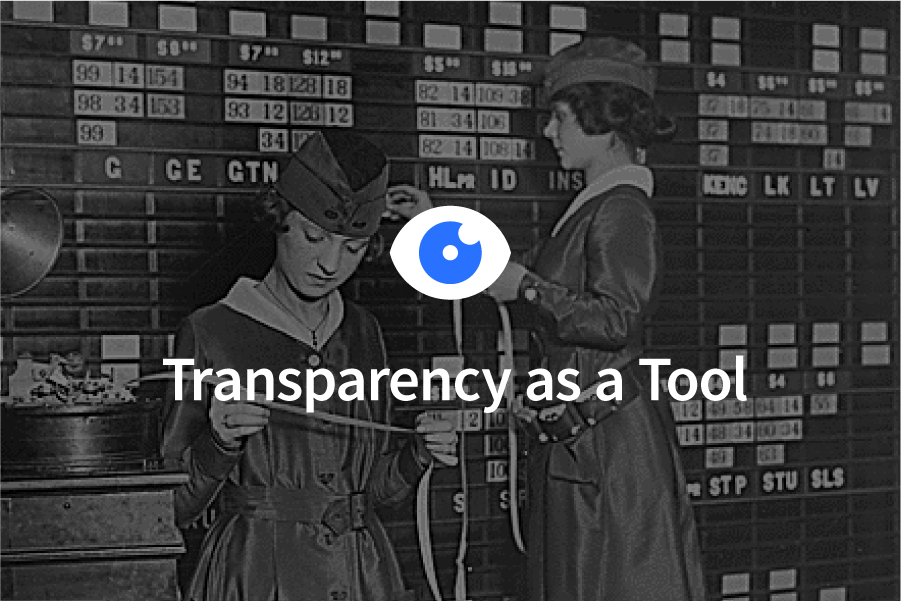 Transparency as a Tool